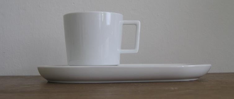 * office series for Mahlwerck Porzellan 2008: espresso, cappuccino and choco cups with saucers